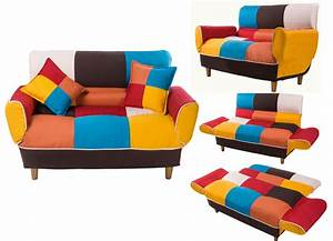 merax adjustable sofa loveseat with cotton linen fabric With colorful sofa bed