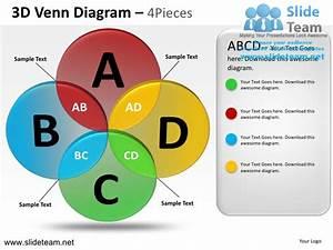 How To Make Create 3d Venn Diagram 4 Pieces Powerpoint