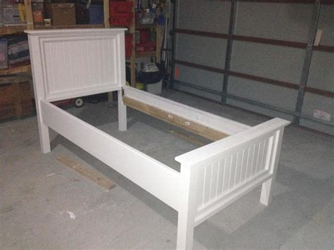 ana white modified twin farmhouse bed diy projects