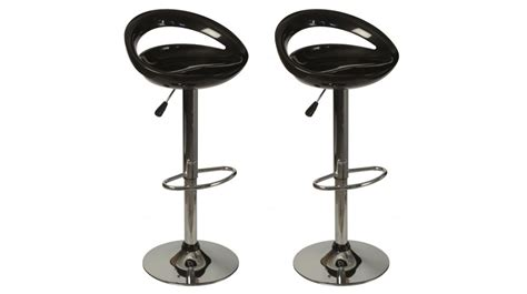 lot de 2 tabourets de bar noir pas cher chaise design