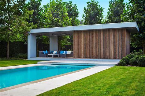 Moderne Poolhäuser by Modern Poolhouse In Trespa En Hout Bogarden Buiten