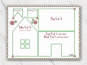 Free Printable Photo Birth Announcements Templates Gingerbread House Templates For Free Temploola