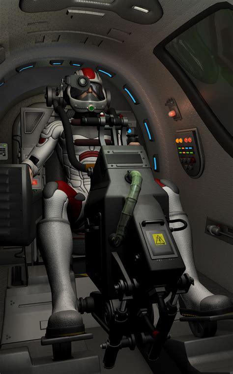 scifi fighter craft cockpit  models simon