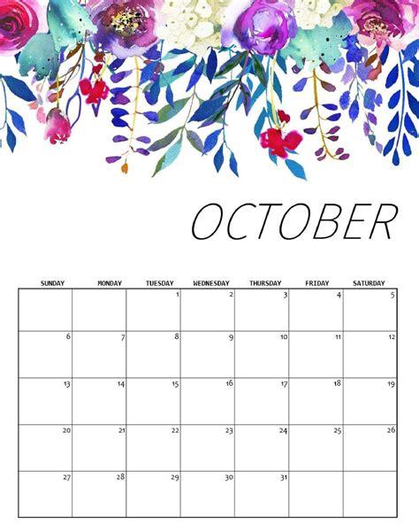 cute october  calendar template  kids magic