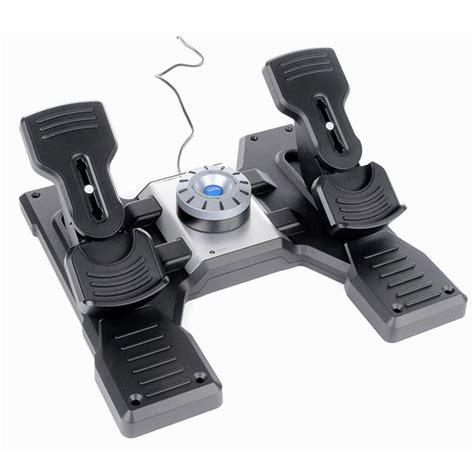 logitech  saitek pro flight rudder pedals joystick