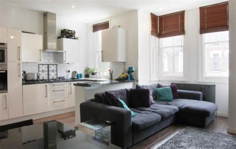 Open Plan Kitchen And Living Room-the Long Sofa Is A