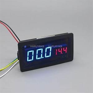 100v 50a Dc Digital Led Amp Volt Combo Meter W  Shunt F