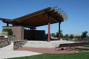 Outdoor wooden park stage | Town of Munster: Entertainment ...