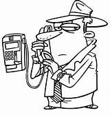 Coloring Phone Call Detective Cell Telephone Drawing Netart Getdrawings Printable Getcolorings sketch template