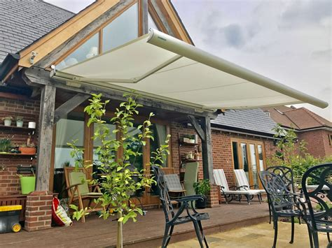 weinor patio awning fitted  wiltshire awningsouth