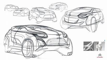 Suv Concept Sketch Sketches Citroen Behance Industrial