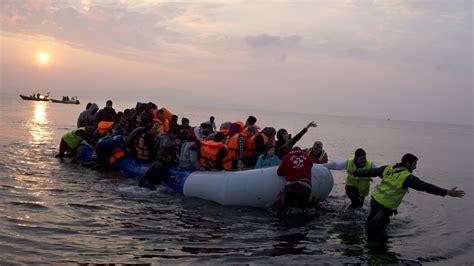 Refugee On Boat by Refugee Crisis Boats Arrive In Greece Despite Eu Deal