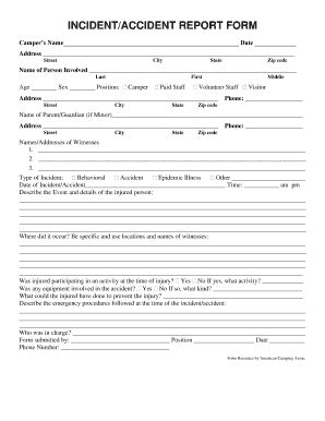 incident accident report form fill   sign