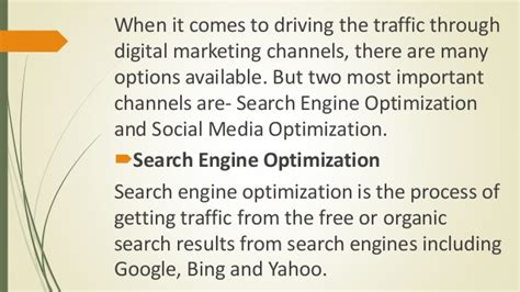 search engine optimization and search engine marketing why social media optimization is better than search engine