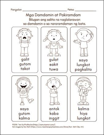 filipino worksheets samut samot kindergarten reading