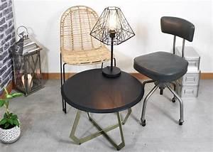 Deco Style Industriel : salon style industriel deco pas chere et rapide clem ~ Melissatoandfro.com Idées de Décoration