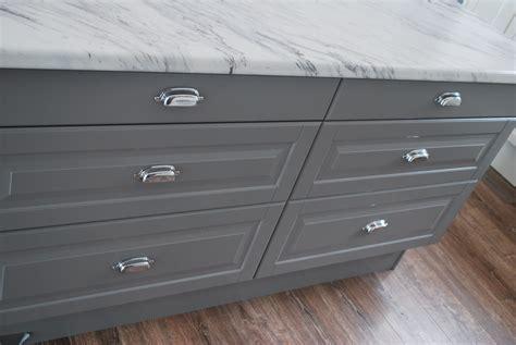 ikea lidi gray cabinets  marble laminate countertops