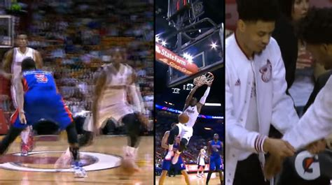 Dwyane Wade Crossover on the Pope & Dunks vs the Pistons ...