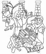 Coloring Drama Total Synagogue Jesus Clears Temple Getcolorings Printable Getdrawings Island sketch template