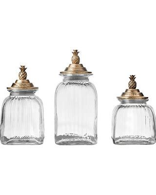 Amazing Deal on Bronze Pineapple Kitchen Canisters, Set of 3