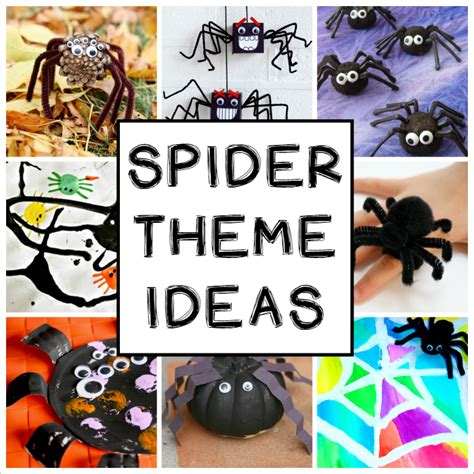 not so creepy spider crafts and activities for 664 | Spider crafts and activities for a spider theme