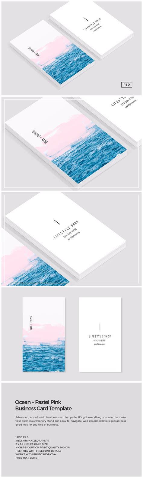 pink business card template business card templates creative market