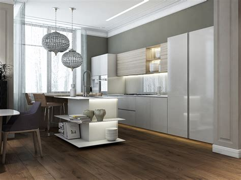 modern island kitchen modern island kitchen open shelving interior design ideas