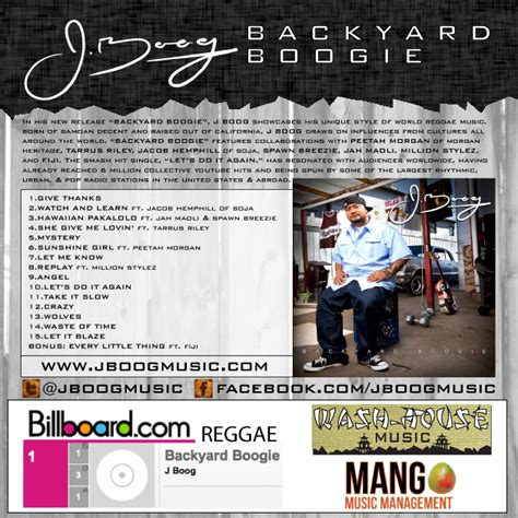Backyard Boogie J Boog by J Boog Backyard Boogie World Tour Kicks In Europe