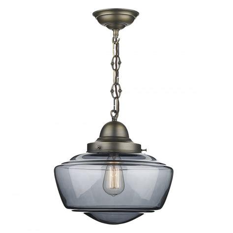 sto0110 stowe 1 light smoked glass pendant