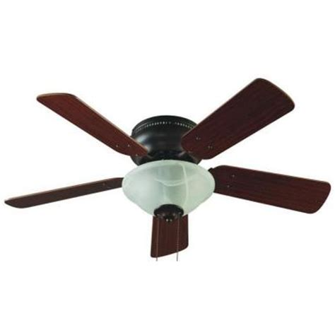 Home Depot Ceiling L Shades by Hton Bay Lugano 36 In Brown Hugger Ceiling Fan With