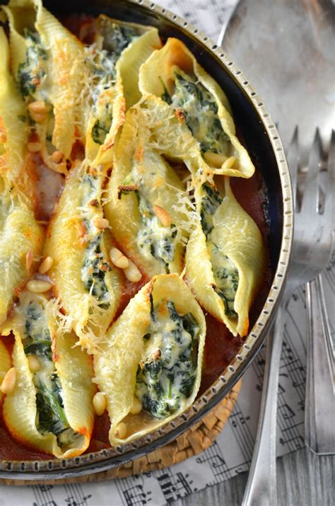 cuisiner la ricotta pâtes conchiglioni farcies à la ricotta et aux épinards