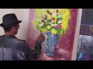 Blumen In Der Box : vase und blumen gelb gemacht von dem k nstler mohamed arrach youtube ~ Orissabook.com Haus und Dekorationen