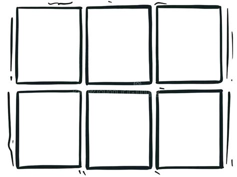 Comic Strip Template Word Stock Images With Speech Bubbles