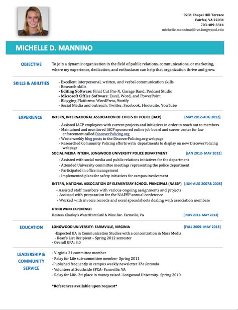Name My Resume by My Resume Mannino S E Portfolio