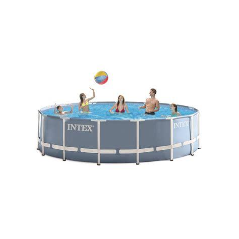piscine intex 4 57 piscine tubulaire ronde intex prism frame 4 57m x 1 22m