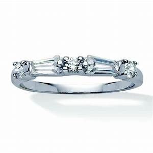 palmbeach jewelry 98 tcw round and baguette cubic With silver and cubic zirconia wedding rings