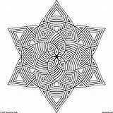 3d Coloring Pages Cool Geometric Printable Designs Print Getcolorings sketch template