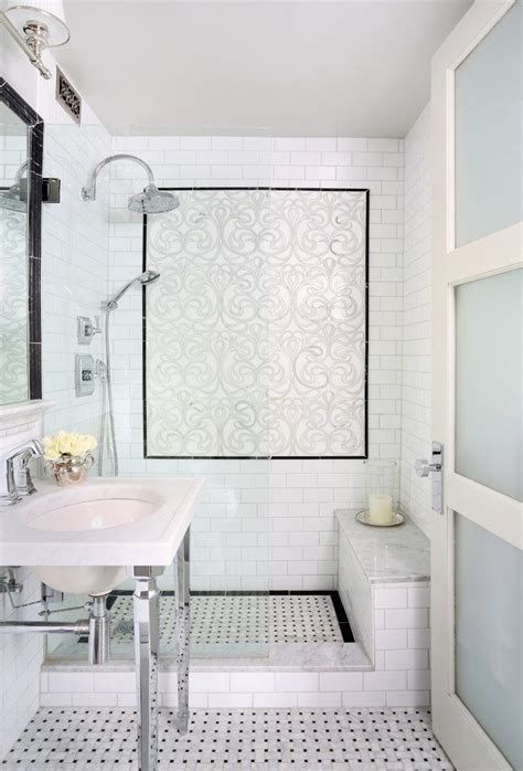 faux marble tile bathroom eclectic with wall sconce a