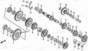 Honda Atv 1985 Oem Parts Diagram For Transmission