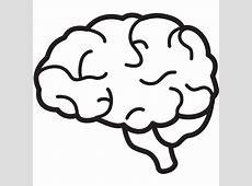 brain clipart black and white simple Archives Indo Templates