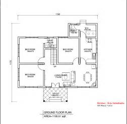 easy floor plan simple kerala style home design at 1155 sq ft