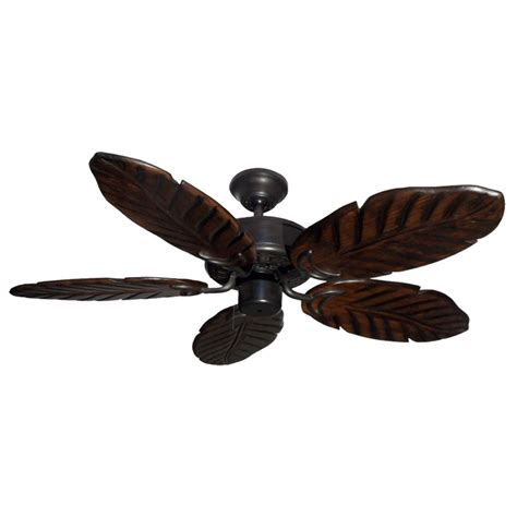 "42"" Outdoor Tropical Ceiling Fan Oil Rubbed Bronze Finish"
