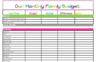 Free Printable Monthly Budget Worksheet Template