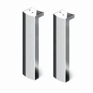 Pied Pour Meuble Salle De Bain : lot de 2 pieds pour meubles belt castorama ~ Dailycaller-alerts.com Idées de Décoration