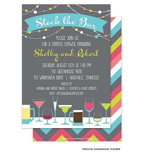 Stock The Bar Shower Stock The Bar Shower Invitations Drinks Stock
