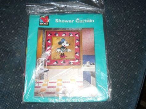 mickey mouse shower curtain ebay