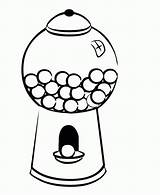 Gumball Machine Gum Coloring Bubble Drawing Clip Clipart Cliparts Template Popular Printable Clipartmag Getcolorings Sketch sketch template
