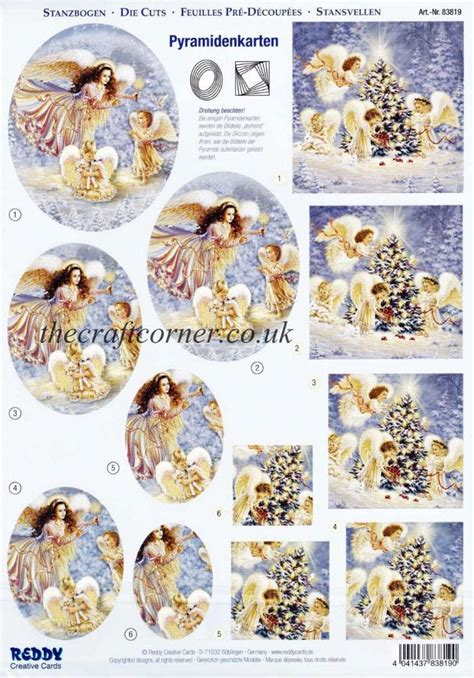 angels   christmas tree die cut  decoupage