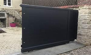 Portail Coulissant 2 Vantaux : portails coulissants telescopiques hauts de seine val d 39 oise ~ Edinachiropracticcenter.com Idées de Décoration