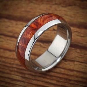 Titanium Wood Wedding Band Amboyna Men39s Ring
